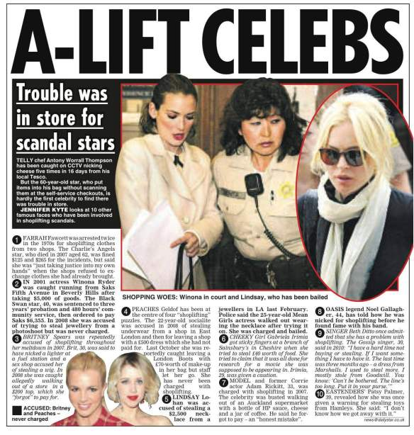 Thieving Celebs