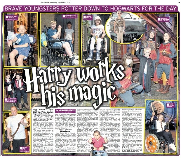 Harry works his magic copy