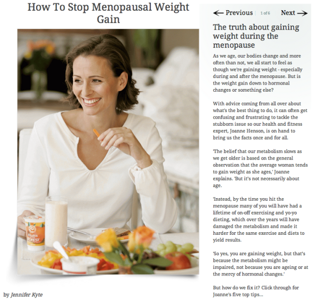 Menopausal Weight Gain