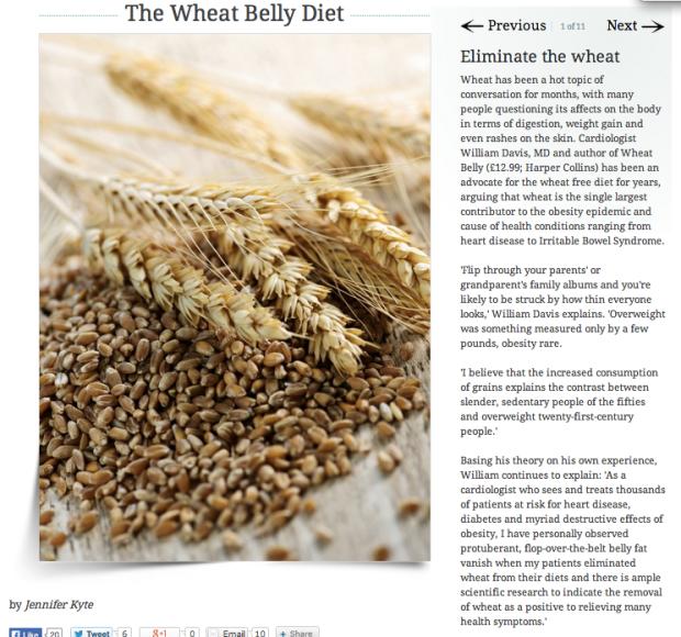 Wheat belly diet